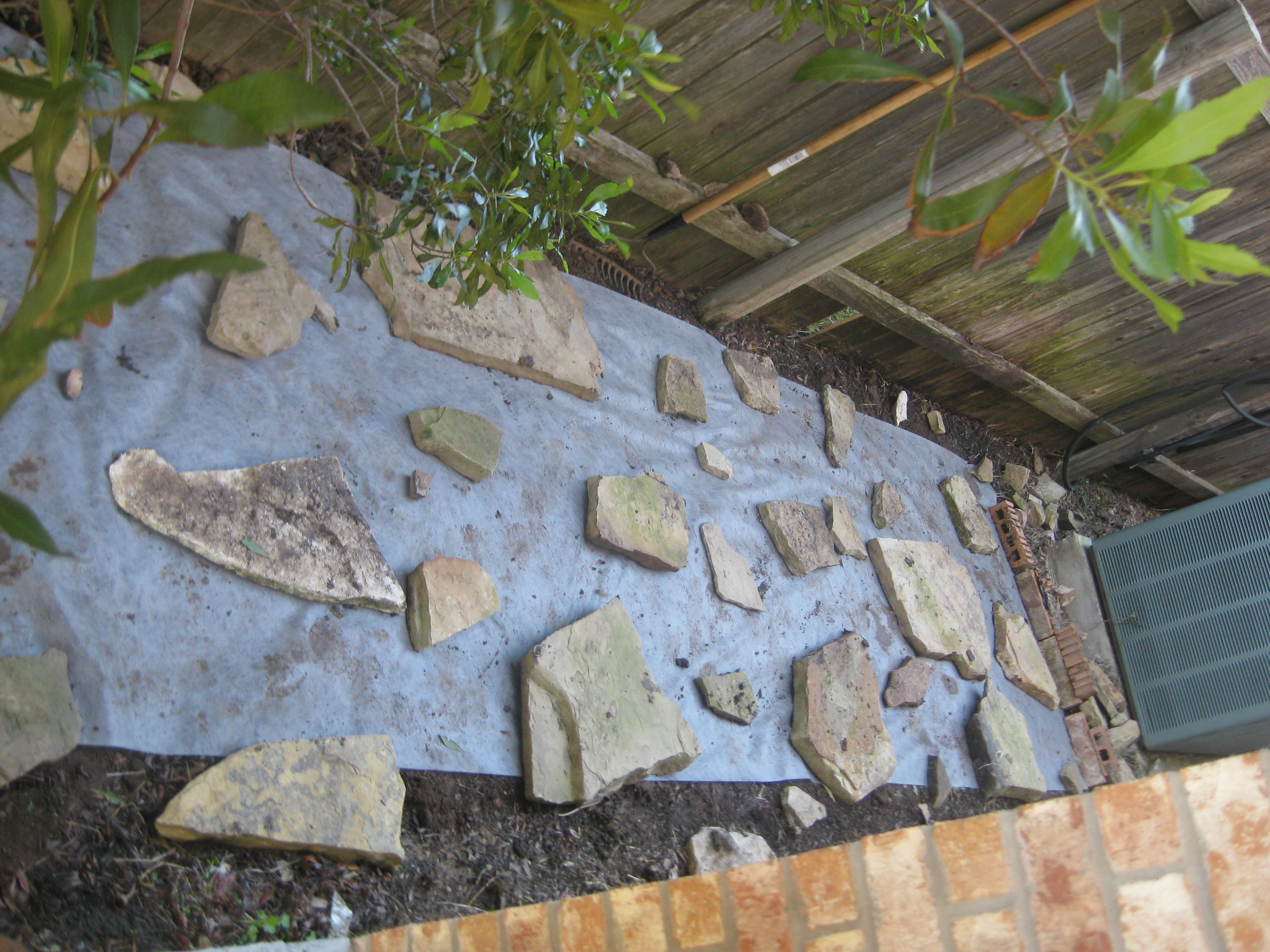 DIY Dry Laid Flagstone And Mulch Pathway – While Everyone Else Is