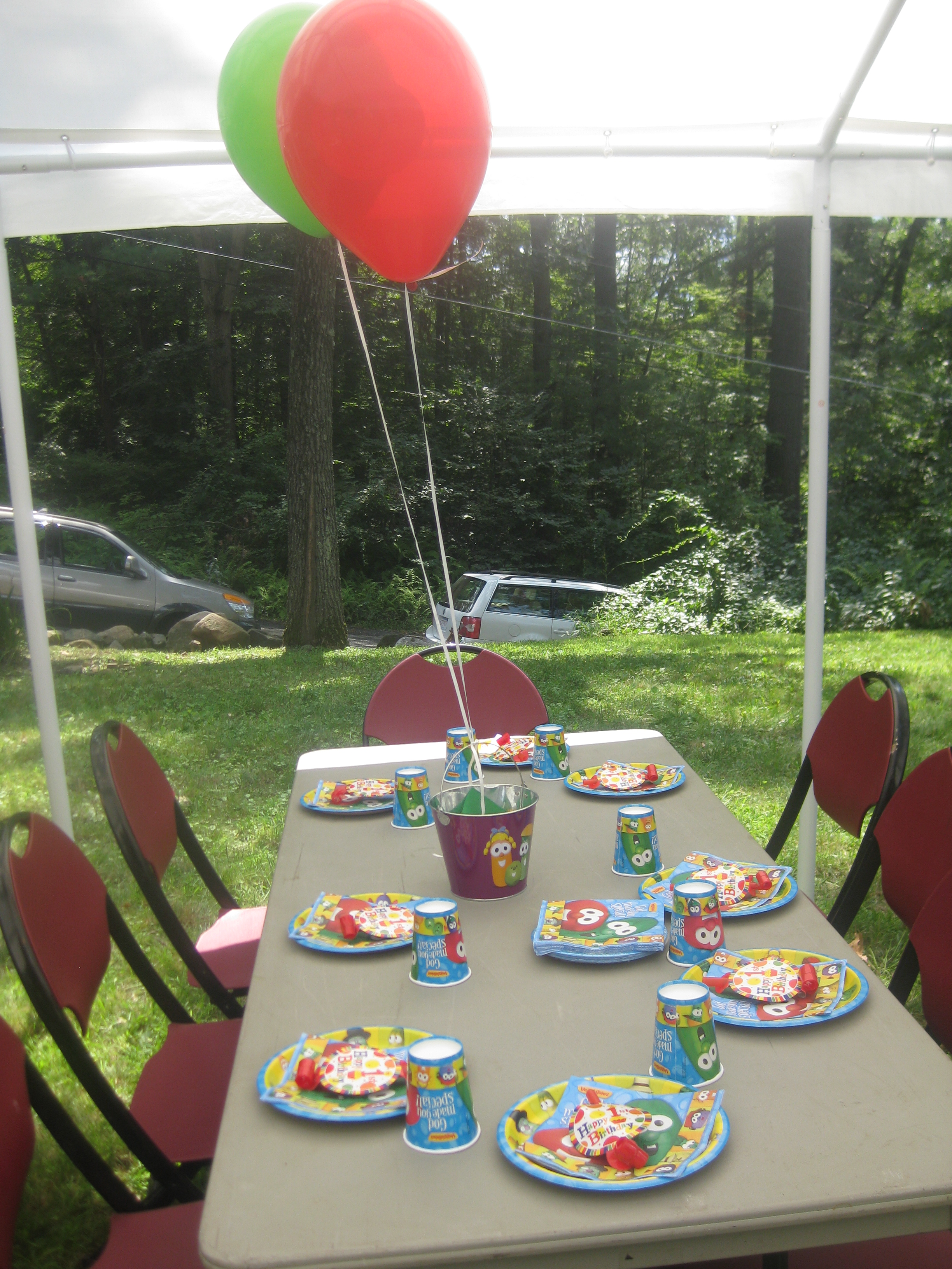 jacob u0027s veggie tale backyard birthday bash u2013 while everyone else