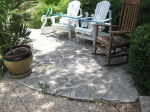 Someone added this flagstone seating area after the fact.