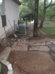 Preparing for new walkway from side patio to pool