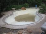 I was very fearful the pool would float out of the ground like a boat.