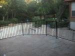 New railing around upper deck with locking gate to slow Juliette down