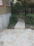 New walkway to side yard