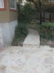 New walkway to side yard