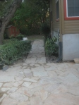 Walkway to side patio