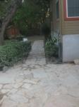 Walkway to side patio