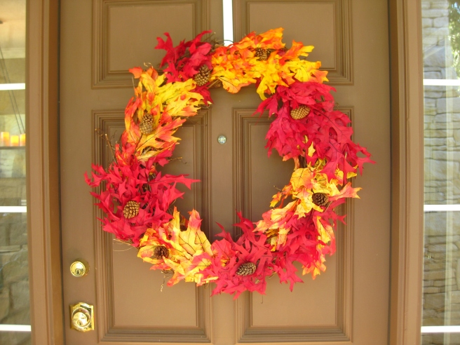 Make this festive fall wreath yourself. It's easy.