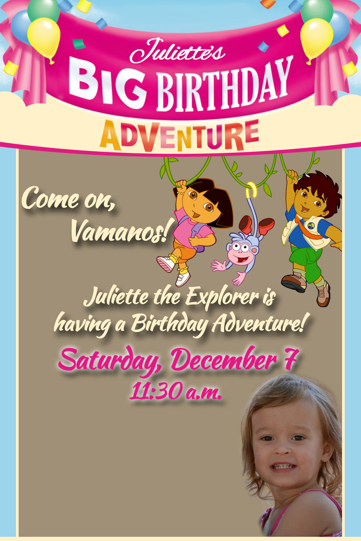 Dora the Explorer Birthday Party While Everyone Else Is Sleeping